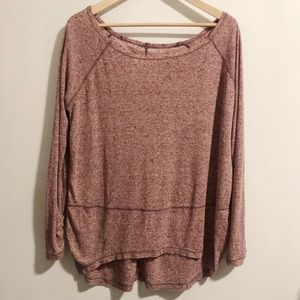 Free People We The People Oversized Light Long Top